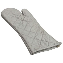 R&R Textile Mills - 01710 - 17 Quilted Silicone Oven Mitt, Silver