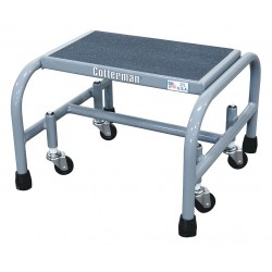 Cotterman - 1001N1818A5E10B3C1P1 - Steel Rolling Platform, 12 Overall Height, 450 lb. Load Capacity, Number of Steps: 1