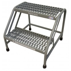 Cotterman - 1302N2223A3E10B1C1P6 - Steel Stationary Step, 20 Overall Height, 500 lb. Load Capacity, Number of Steps: 2