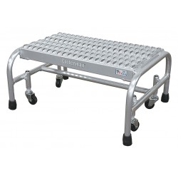 Cotterman - A1N2626A3B3C50P1 - Aluminum Rolling Platform, 12 Overall Height, 350 lb. Load Capacity, Number of Steps: 1