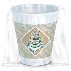 Dart Container - 10X10GWRAP - 10 oz. Disposable Cold/Hot Cup, Polystyrene Foam, White, PK 900