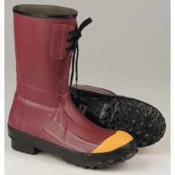 Lacrosse Footwear - 00223120-10 - 12H Men's Insulated Boots, Steel Toe Type, Rubber Upper Material, Red, Size 10