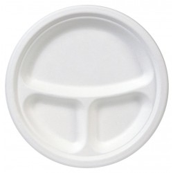 Dixie - ES9PCOMP - 9 Round Disposable Plate, White; PK500