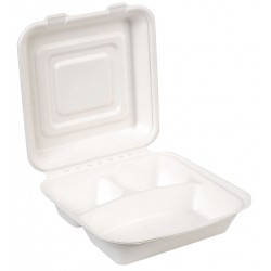 Dixie - ES9CSCOMP - 9-3/8 x 9-3/8 x 2-5/32 Molded Fiber Carry-Out Food Container, White; PK250