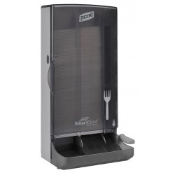 Dixie - SSFPD80 - Fork Dispenser, Translucent Smoke, Height 17-11/32, Width 8-1/4, Depth 6-3/16