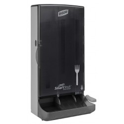 Dixie - SSFD80 - Fork Dispenser, Translucent Smoke, Height 17-11/32, Width 8-1/4, Depth 6-3/16