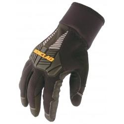 Ironclad - CCG2-03-M - Cold Protection Gloves, Micro Fleece Lining, Knit Wrist Cuff, Black/Black, M, PR 1