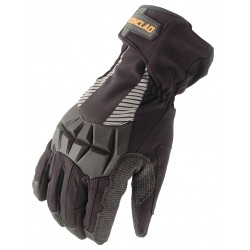 Ironclad - CCT2-04-L - Cold Protection Gloves, Insulated Lining, Shirred Cuff, Black/Black, L, PR 1