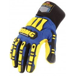 Ironclad - SDXW2-04-L - Cold Protection Gloves, Polyester Lining, Knit Wrist Cuff, Blue/Yellow, L, PR 1
