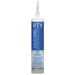 White Lightning - WL099112W - Tube White RTV Silicone Sealant, 10 oz.