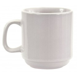 Crestware - AL15 - Mug, Stackable, Bright White, 10 oz., PK36