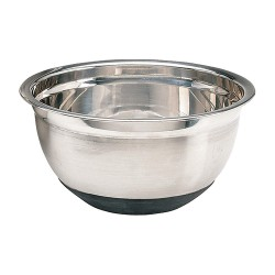 Crestware - MBR04 - 4 qt. Stainless Steel and Rubber Mixing Bowl