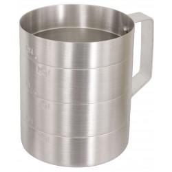 Crestware - MEA01D - 1 qt. Dry Measure Aluminum Measuring Cup, Gray