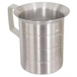 Crestware - MEA04 - 4 qt. Liquid Measure Aluminum Measuring Cup, Gray