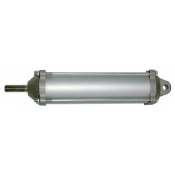 Velvac - 100137 - 3-1/2 Air Cylinder Bore Dia. with 8.68 Stroke Aluminum , Clevis Mounted Air Cylinder