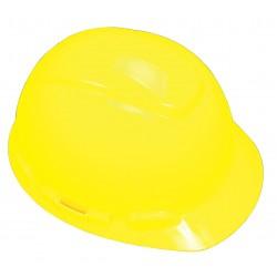 3M - H-709R-UV - Front Brim Hard Hat with Uvicator Sensor, 4 pt. Ratchet Suspension, Bright Yellow, Hat Size: 6-5/8
