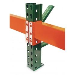 Husky Rack and Wire - IBX30048 - Orange Teardrop Step Beam 3H x 48W x 2-1/2D