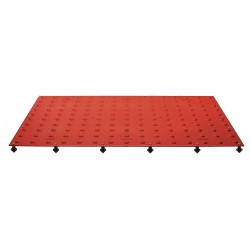 Tuftile - TT2448-WS-BRD-1 - Brick Red ADA Warning Pad, 4 ft. x 2 ft. x 13/32