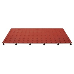 Tuftile - TT2448-WS-CRD-1 - Colonial Red ADA Warning Pad, 4 ft. x 2 ft. x 13/32