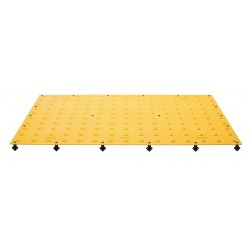 Tuftile - TT2448-WS-YEL-1 - Yellow ADA Warning Pad, 4 ft. x 2 ft. x 13/32