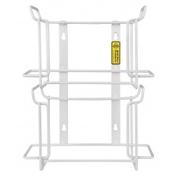 R&B Wire Products - 552 - Vertical Glove Dispenser, White, Steel, Holds: (2) Boxes, 4-1/4 Width