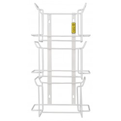 R&B Wire Products - 553 - Vertical Glove Dispenser, White, Steel, Holds: (3) Boxes, 4-1/4 Width