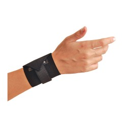 Occunomix - 311-068 - Black Wraparound Strap Wrist Support, Ergonomic Support Size: Universal, Fits All Sizes, Wrist: Ambi