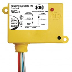 Functional Devices - ESR2402B - Enclosed Pre-Wired Relay, 24VAC/DC, 208 to 277VAC Coil Volts, SPDT Contact Form