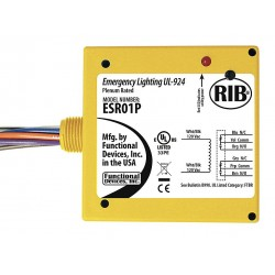 Functional Devices - ESR01P - Enclosed Pre-Wired Relay, 120VAC Coil Volts, DPDT Contact Form