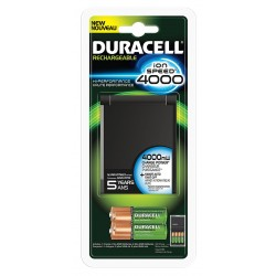 Duracell - CEF27LNRFP - Battery Charger; Charges Up To (4) AAA or AA with Battery Recharge Time of 1 to 2-1/2 hr.