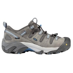 KEEN - 1007017 - Women's Athletic Style Work Shoes, Steel Toe Type, Leather, Webbing, Mesh Upper Material, Gargoyle,