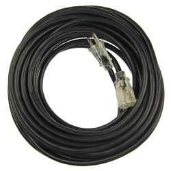 Power First - 21RJ52 - 50 ft. Indoor and Outdoor Lighted Extension Cord; Max Amps: 15, Number of Outlets: 1, Black