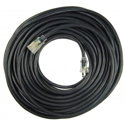 Power First - 21RJ53 - 100 ft. Indoor and Outdoor Lighted Extension Cord; Max Amps: 15, Number of Outlets: 1, Black