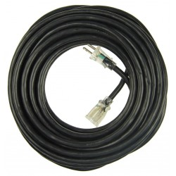 Power First - 21RJ55 - 50 ft. Indoor and Outdoor Lighted Extension Cord; Max Amps: 15, Number of Outlets: 1, Black