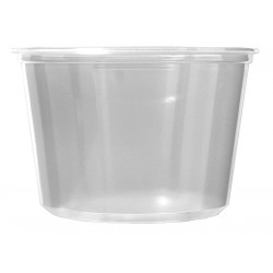 Fabri-Kal - 9505102 - 3 x 4-37/64 x 3 Polypropylene Carry-Out Deli Container, Clear; PK500