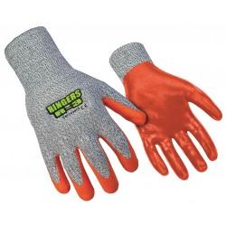 Ringers Gloves - 043-10 - Cut Resist Gloves, Nitrile Dip Coat, L, PR