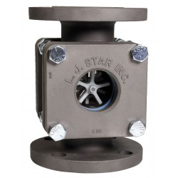 L.J. Star - 1812 SHNN1N - Stainless Steel Window Sight Flow Indicator, 1-1/2 Pipe Size, 150# Flange Connection Type