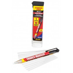Markal - 96130 - Trades-Marker All-Surface Marker, White