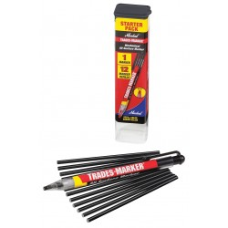Markal - 96133 - Trades-Marker All-Surface Marker, Black