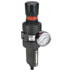 Parker Hannifin - 06E34B18AC - 1/2 NPT Filter/Regulator, 61 cfm Max. Flow, 250 psi Max. Pressure