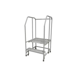 Cotterman - 1002R2626A3E30B3C1P6 - 2-Step Rolling Ladder, Serrated Step Tread, 50 Overall Height, 450 lb. Load Capacity