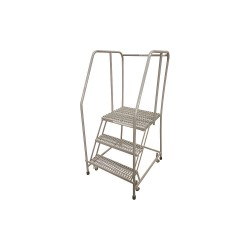 Cotterman - 1003R2630A3E20B3C1P6 - 3-Step Rolling Ladder, Serrated Step Tread, 60 Overall Height, 450 lb. Load Capacity