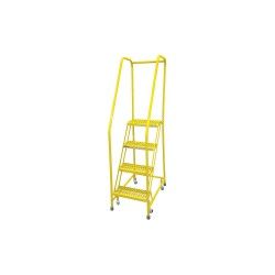 Cotterman - 1004R1820A3E10B3C2P6 - 4-Step Rolling Ladder, Serrated Step Tread, 70 Overall Height, 450 lb. Load Capacity