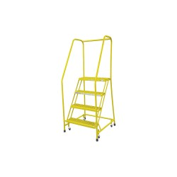 Cotterman - 1004R2630A3E10B3C2P6 - 4-Step Rolling Ladder, Serrated Step Tread, 70 Overall Height, 450 lb. Load Capacity