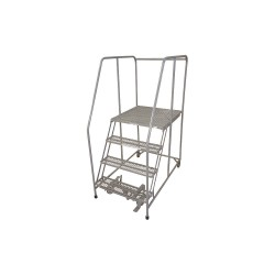 Cotterman - 1004R3232A3E30B4C1P6 - 4-Step Rolling Ladder, Serrated Step Tread, 70 Overall Height, 450 lb. Load Capacity