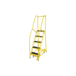 Cotterman - 1005R1820A2E10B4C2P6 - 5-Step Rolling Ladder, Antislip Vinyl Step Tread, 80 Overall Height, 450 lb. Load Capacity