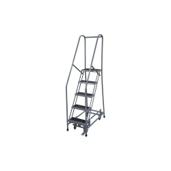 Cotterman - 1005R2630A2E10B4AC1P6 - 5-Step Rolling Ladder, Antislip Vinyl Step Tread, 80 Overall Height, 450 lb. Load Capacity
