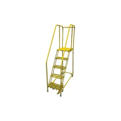 Cotterman - 1005R2630A3E30B4C2P6 - 5-Step Rolling Ladder, Serrated Step Tread, 80 Overall Height, 450 lb. Load Capacity