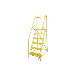 Cotterman - 1006R2630A1E10B4C2P6 - 6-Step Rolling Ladder, Expanded Metal Step Tread, 90 Overall Height, 450 lb. Load Capacity