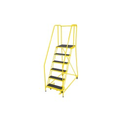 Cotterman - 1006R2630A2E20B4C2P6 - 6-Step Rolling Ladder, Antislip Vinyl Step Tread, 90 Overall Height, 450 lb. Load Capacity